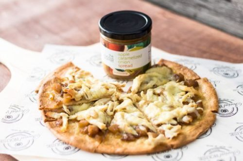 Chicken Flatbread Pizza with Apple Caramelized Onion Spread is the best easy recipe for entertainment. We made the Chicken Flatbread Pizza with the Apple Caramelized Onion Spread, price. Find this product and other recipes at Spoonabilities.com