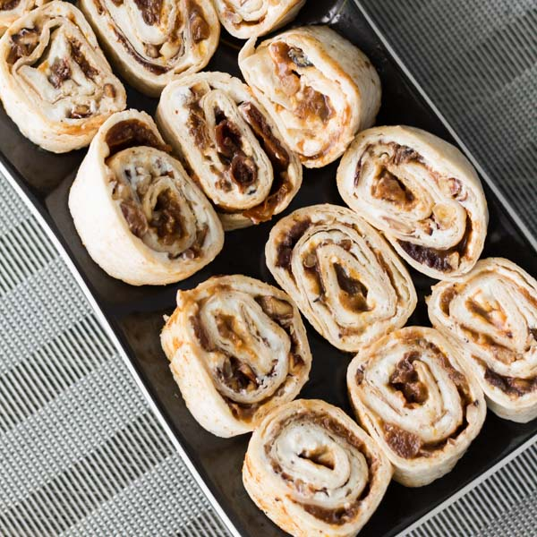 Fruit Goat Cheese Roll Ups. Featuring one of our favorite products Dried Fruit Chutney, price $9.99. Find this product and more easy recipes ideas at Spoonabilities.com