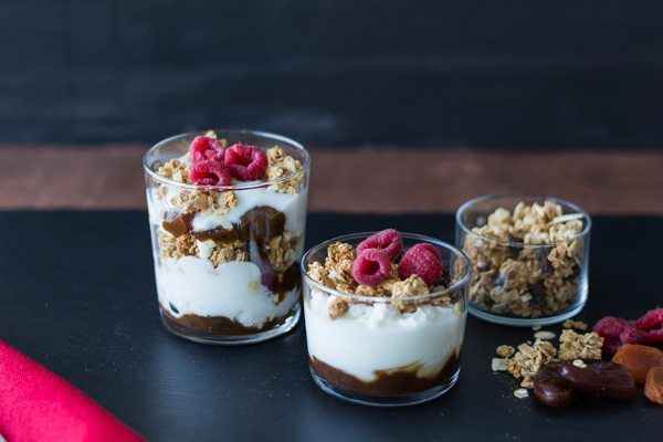 Granola Yogurt Parfait with Dried fruit Chutney is great for breakfast, snack, lunch or dessert recipe. Featuring our yummy Dried Fruit Chutney. Find this product and other recipes at Spoonabilities.com