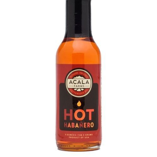 Hot Habanero Cottonseed Oil - 5.0 oz - Acala Farms - Cotton Oils