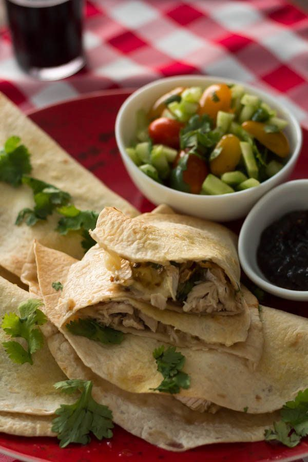 Brie Quesadilla with Raspberry Jalapeno Jam