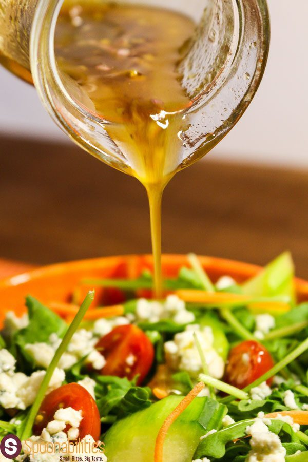 This Fig Pomegranate Vinaigrette is great for any kind of salad with crumbles from a cheese with delicate flavor. Find this Fig Pomegranate Jam and recipes ideas at Spoonabilities.