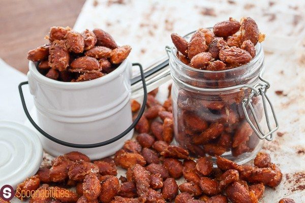 Spicy Honey Mustard Almonds is a great homemade healthy snacks recipe