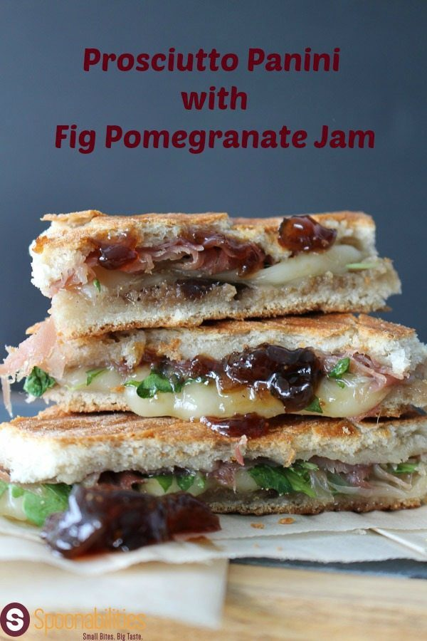 This Prosciutto Panini with Fig Pomegranate Jam is a great option for a quick lunch or for snack. The combination of the peppery arugula, the semisoft gentle buttery and nutty flavor of the Fontina & the delicate, sweet taste from the Prosciutto. . Please find this recipe or more recipe ideas at Spoonabilities.