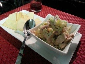Summer Chicken Salad & Pita Chips. Spoonabilities.com