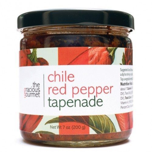 Chile Red Pepper Tapenade - the Gracious Gourmet - available at Spoonabilities.com