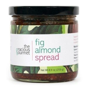 Fig Almond Spread /Jam is great for desserts like ice cream, cakes or just with toast from our producer The Gracious Gourmet at Spoonabilities.com
