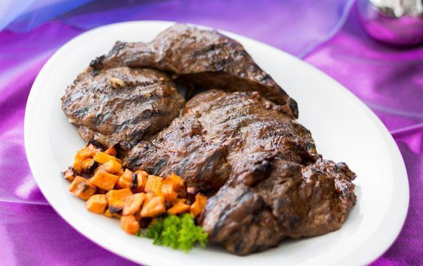 Grilled Leg of lamb with Moroccan Date Sauce at Spoonabilities