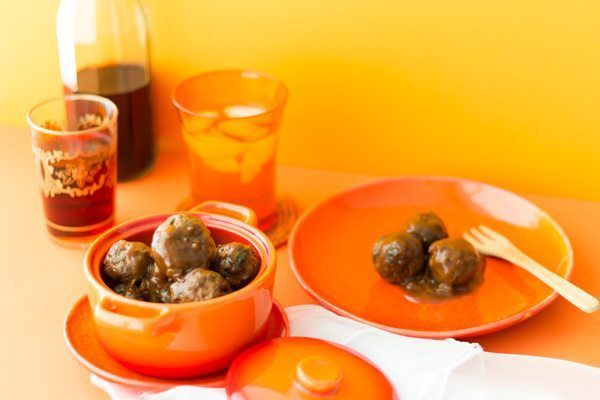 Moroccan Meatballs Keftu with Date Sauce At spoonabilities