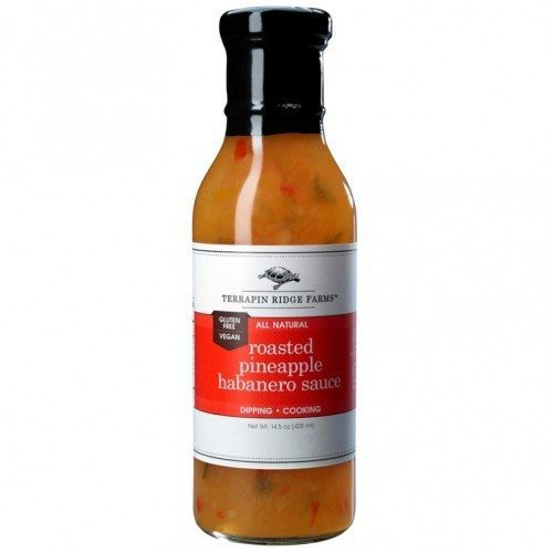 Roasted Pineapple Habanero Sauce has a sweet caramelized roasted pineapple taste combined with veggies and fiery habaneros. Perfect for grilling & dipping. The sauce is Gluten Free, & Vegan. Available at Spoonabilities.com