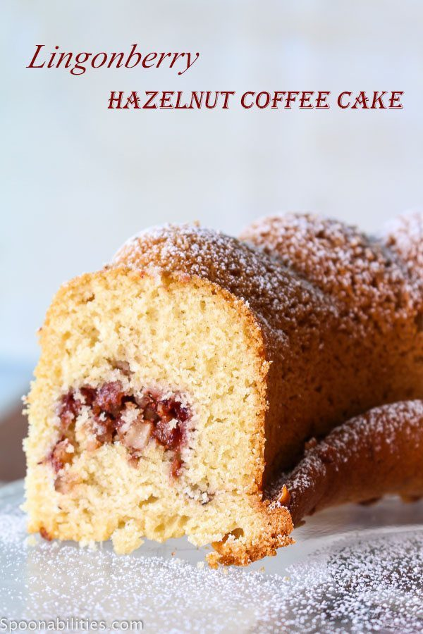 Lingonberry Hazelnut Coffee Cake@ Spoonabilities