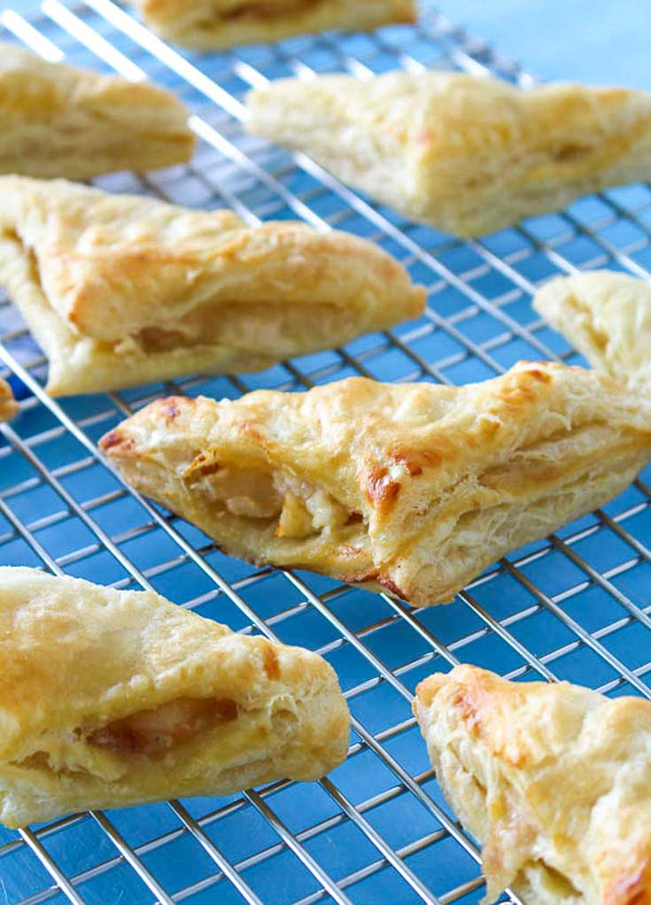 Pear Honey Turnovers on cooling rack