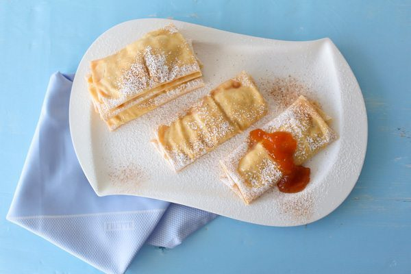 Crepes with Pear Honey Jam Filling at Spoonabilities