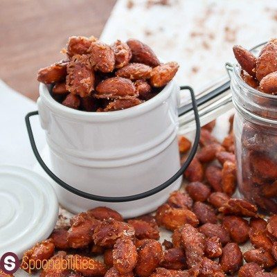 Spicy Honey Mustard Almonds made with our Jalapeno Pepper Mustard. Find this recipe and more ideas at Spoonabilities