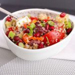 Quinoa Pomegranate Bowl with Greek Vinaigrette. Find this recipe and more ideas at Spoonabilities