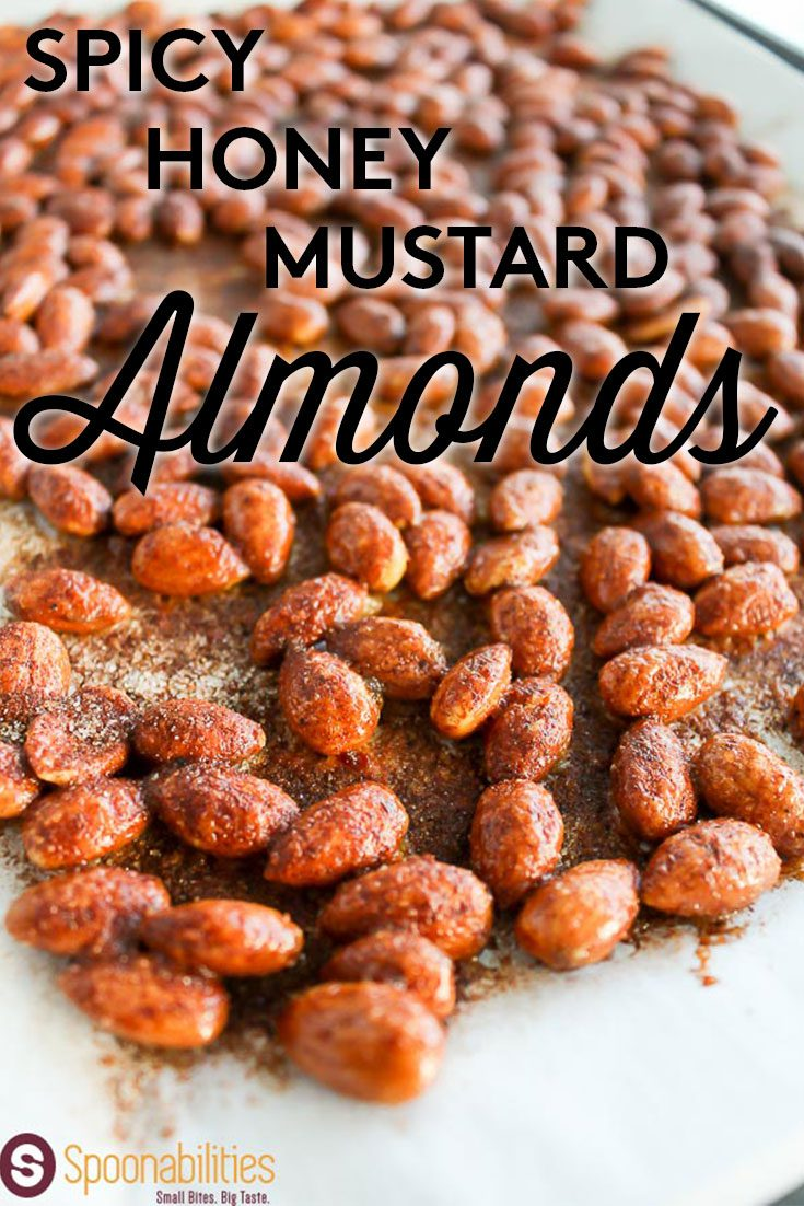 Spicy Honey Mustard Almonds made with our Spicy Honey Dijon Mustard. Find this recipe and more ideas at Spoonabilities