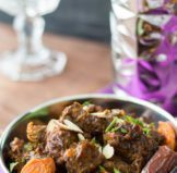 Moroccan Beef Tagine Pot with Date Sauce & Apricots