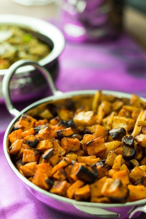 The Best roasted Vegetables with Moroccan Date Sauce. You can find this recipe and more products at Spoonabilities.com