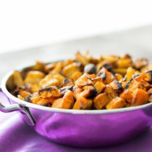 The Best roasted Vegetables with Moroccan Date Sauce at Spoonabilities. Featuring our Moroccan Date Sauce