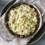 Easy Parmesan Artichoke Risotto. Featuring one of our favorite products Artichoke Parmesan Tapenade. Find this product and more easy recipes at Spoonabilities.com