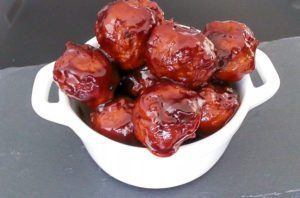 Spicy Orange BBQ Sauce recipe for Meatballs are sweet and spicy and as easy as 1-2-3. Perfect for a cold day, to make a meatball sandwich, or have at a football tailgate. Spoonabilities.com