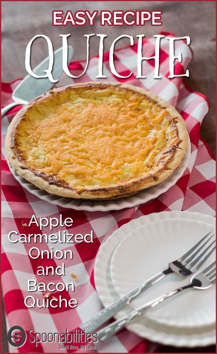 Easy Recipe for Apple Caramelized Onion & Bacon Quiche. Made with Apple Caramelized Spread, you will end up eating this for breakfast, brunch, lunch and maybe even dinner until it's all gone. Spoonabilities.com
