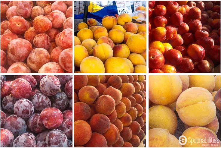 Stone Fruits Season Yellow Nectarines and Pluots found at farmers market in San Francisco taken by Spoonabilities.com
