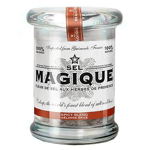 Fleur de Sel French Sea Salt Spicy. Blended by hand from all-natural ingredients: Spicy Blend is batch-blended from 4 all-natural ingredients: our Fleur de Sel de Guérande, Thyme, Rose Peppercorn and Chili Pepper. Try this gourmet salt at Spoonabilities.com