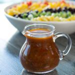 Rainbow Salad with Santa Fe Salad Dressing made with Raspberry Jalapeno Jam