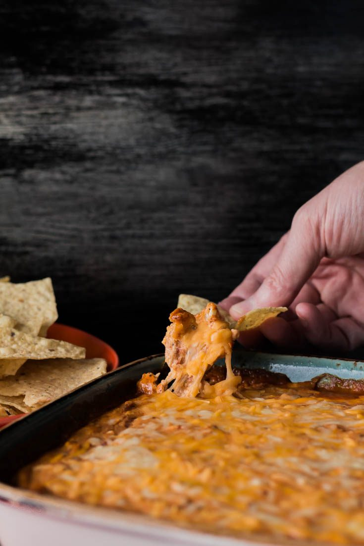Fiesta Roasted Red Pepper Dip is the perfect appetizer or starter for any weekend party or Sunday football game. You can make ahead this recipe in 5 minutes for an easy dip with tons of flavors. Spoonabilities.com
