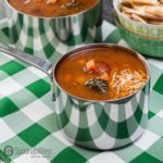 Hearty Vegetable Soup made in 20 minutes with Red Pepper Relish