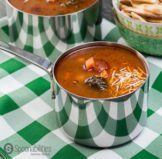 Hearty Vegetable Soup with Chile Red Pepper Tapenade