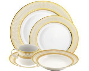 Chinaware Iriana White Gold Collection from 10 Strawberry Street in Amazon