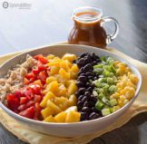 Santa Fe Salad Dressing on a Rainbow Salad