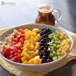 Santa Fe Salad Dressing and a Rainbow salad