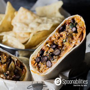 Southwestern Chicken Wraps recipe made with Red Chili Tapenade for a fast and easy lunch made under 30 minutes. This recipe is a Mexican-Southwestern inspired. Spoonabilities.com