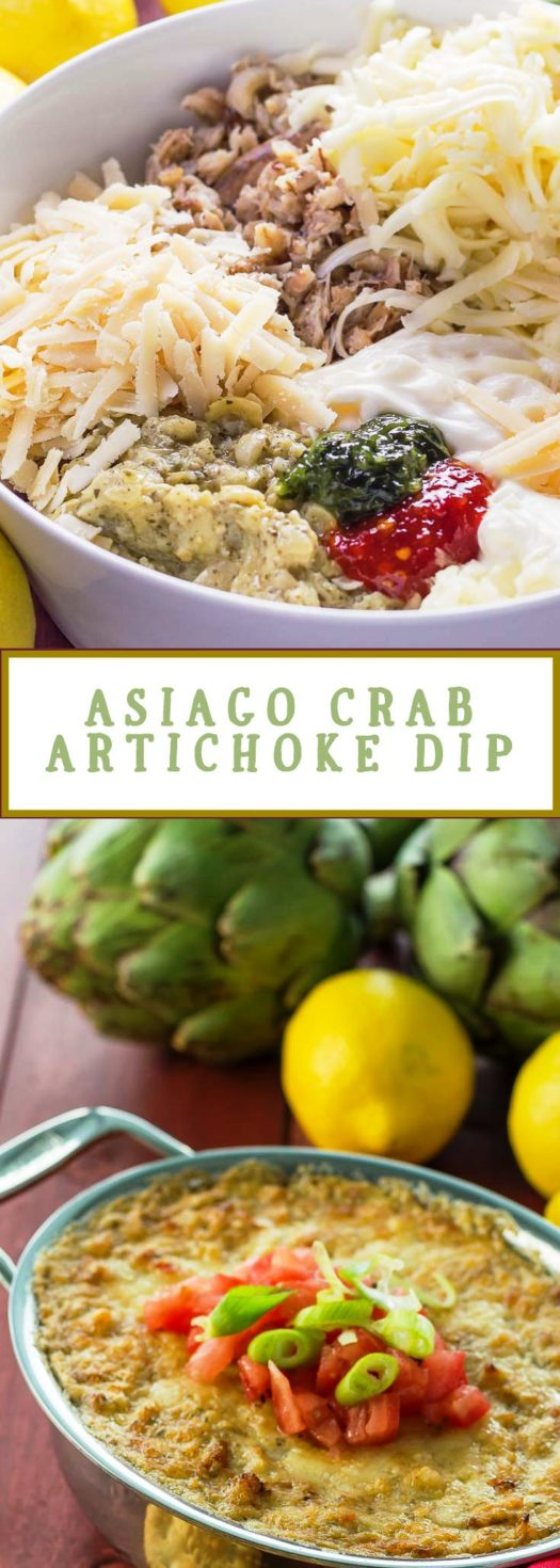 Asiago Crab Artichoke Dip | Easy Appetizer Recipe