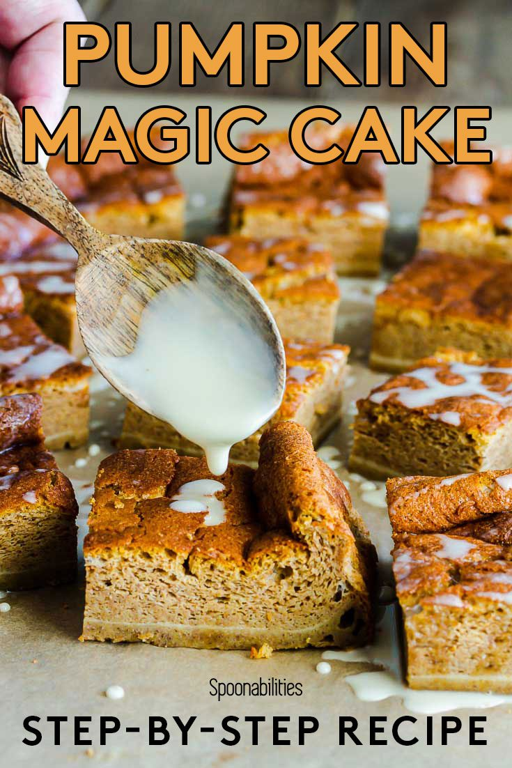 Pumpkin Magic Cake with Vermont Maple Syrup Glaze