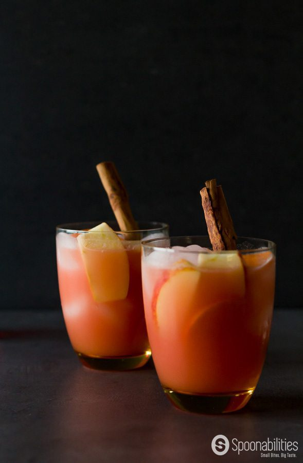 Caramel Apple Cider Vodka Punch recipe has Lavender Caramel sauce, or you can use Salty Caramel Sauce. This drink is easy to prepare and can be made ahead a time. Spoonabilities.com