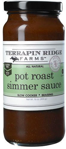 The Pot Roast Simmering Sauce is the perfect combination of herbs and spices creates an easy and amazingly delicious pot roast. Producer Terrapin Ridge Farms, available at Spoonabilities.com