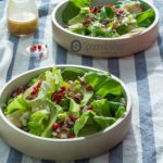 Pumpkin Honey Mustard Vinaigrette on Roquefort Pear Salad is a super delicious recipe. Light, healthy and with a very vibrant green color. The Pumpkin Honey Mustard Vinaigrette is what brings all the flavors together. Spoonabilities.com