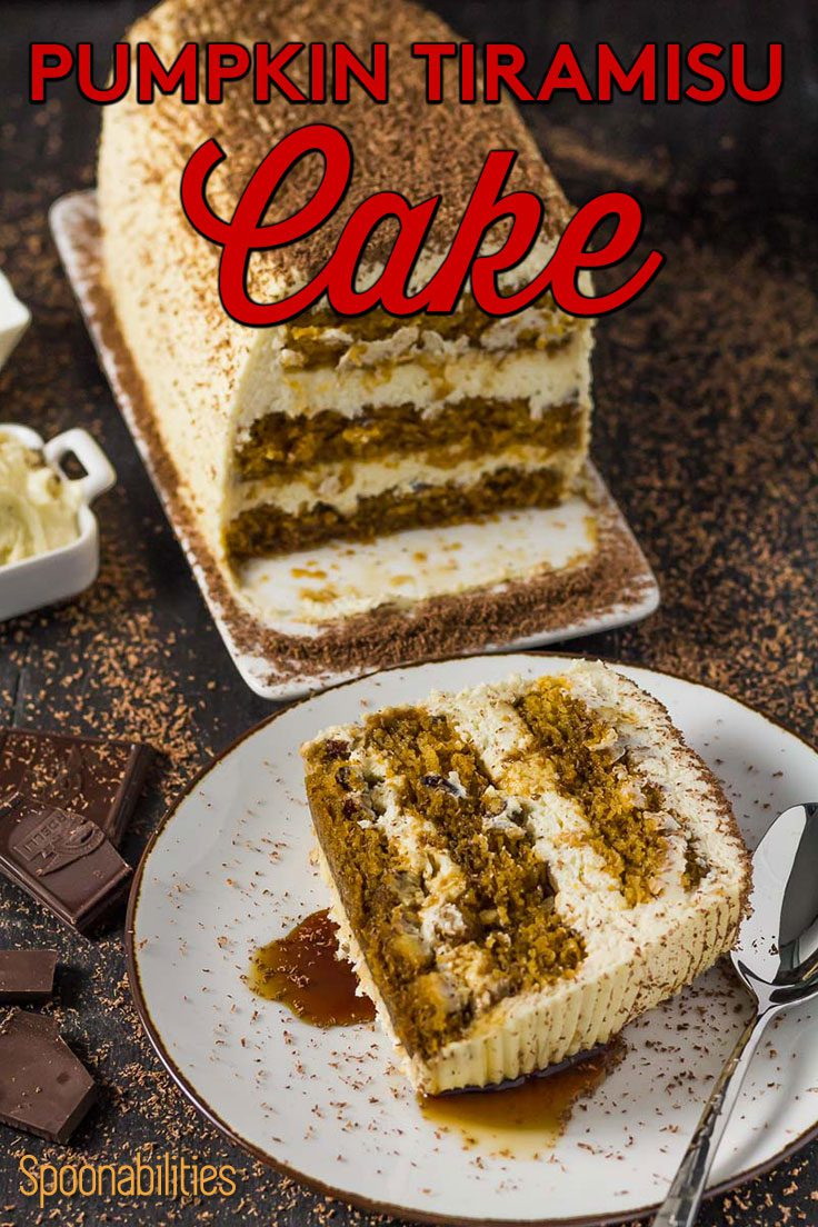 Three layer Pumpkin Tiramisu Cake