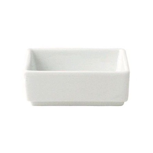 White Porcelain Square Ramekin