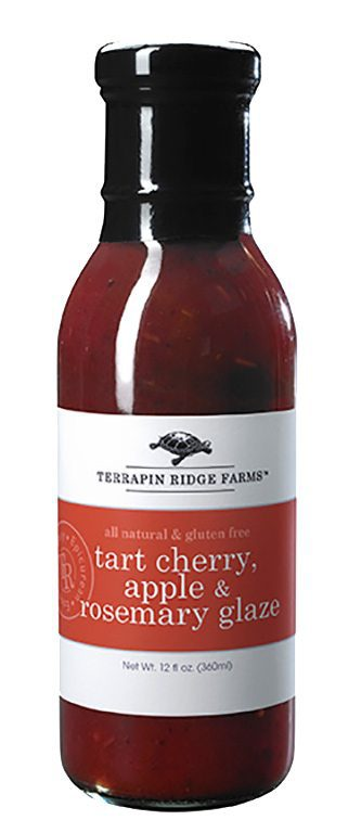 Gourmet Glaze and Sauce Gift Set 3-pack with Tart Cherry, Apple & Rosemary Glaze from Terrapin Ridge Farms. You can use them to broil, bake, Grill or just out of the jar to elevate your everyday meals into delicious gourmet meals. Available at Spoonabilities.com
