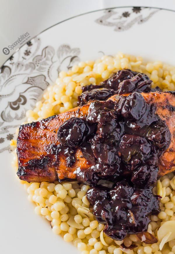Chipotle Cherry Sauce is the best recipe to use as a glaze or marinade on salmon, chicken, duck or pork. Made with Black Cherry Jam. spoonabilities.com