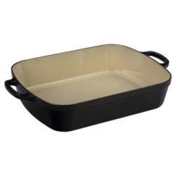 Le Creuset Signature Enameled Cast Iron Rectangular Roaster Black