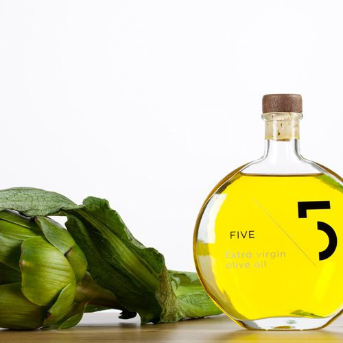 FIVE Extra Virgin Olive Oil is a Greek gourmet EVOO of high quality. Five has a well-balanced flavor, fruity, slightly spicy flavor and subtle aroma. Available at Spoonabilities.com