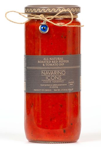 Roasted Red Pepper & Tomato Dip in the Greek Antipasto Gift Set from Navarino Icons. Available at Spoonabilities.com