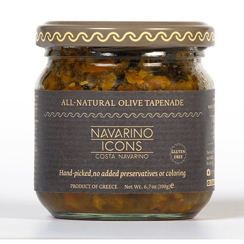 Olive Bruschetta Tapenade from Navarino Icons in the Traditional Greek Antipasto Gift. Spoonabilities.com