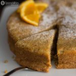 Hazelnut Citrus Torte is served during Passover. This nutty Jewish dessert is gluten free. We use our Eleia Kosher certified Extra Virgin Olive Oil. Check it out at Spoonabilities